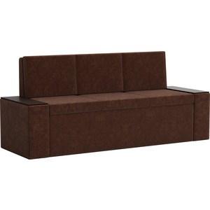 Кухонный диван АртМебель Лина Микровельвет (коричневый) кухонный диван артмебель лина микровельвет коричневый