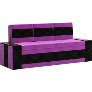 Кухонный диван АртМебель Лина Микровельвет (фиолетово/черный) лина ди открой