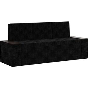 Кухонный диван АртМебель Лина Микровельвет (черный) кухонный диван артмебель лина микровельвет коричневый