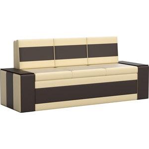 Кухонный диван АртМебель Лина эко-кожа (бежево/коричневый) кухонный диван артмебель лина микровельвет коричневый