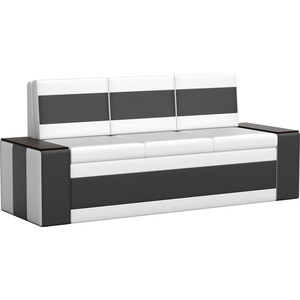 Кухонный диван АртМебель Лина эко-кожа (бело/черный) кухонный диван артмебель лина эко кожа черный