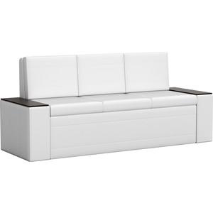 Кухонный диван АртМебель Лина эко-кожа (белый) кухонный диван артмебель лина эко кожа черный