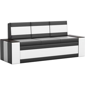 Кухонный диван АртМебель Лина эко-кожа (черно/белый) кухонный диван артмебель лина эко кожа черный