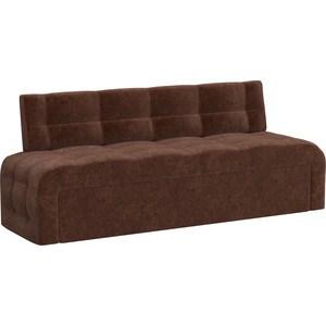 Кухонный диван АртМебель Люксор микровельвет (коричневый)