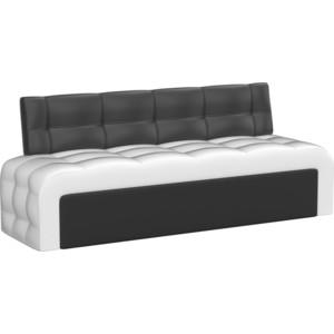 Кухонный диван АртМебель Люксор эко-кожа (бело/черный)