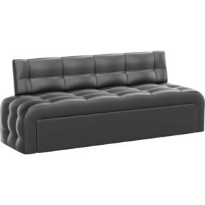 Кухонный диван АртМебель Люксор эко-кожа (черный) кухонный диван артмебель лина эко кожа черный