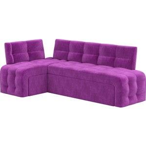 Кухонный угловой диван АртМебель Люксор микровельвет (фиолетовый) угол левый bodenschatz women savona cross body bag
