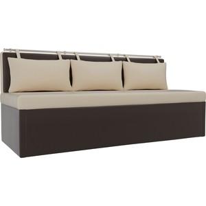 Кухонный диван АртМебель Метро эко-кожа (бежевокоричневый)