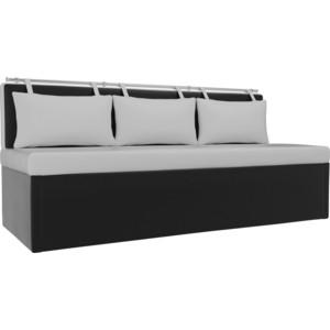 Кухонный диван АртМебель Метро эко-кожа белый-черный кухонный диван артмебель лина эко кожа черный