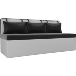 Кухонный диван АртМебель Метро эко-кожа (черно\белый)