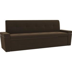 Кухонный диван АртМебель Деметра микровелвет (коричневый)