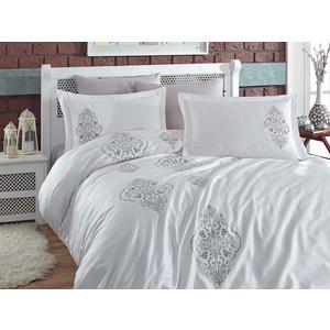 Комплект постельного белья Dantela Vita Евро, сатин с вышивкой, Ottoman серый (9285серый) лампочка филипс 007054 b1s 35w e1 04j dot 9285 141 294