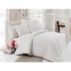 Комплект постельного белья Do and Co Евро, сатин с гипюром, Narin кремовый (9291кремовый)