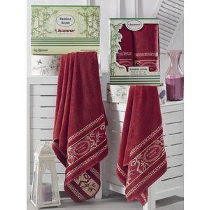 Набор из 2 полотенец Juanna Royal бордовый бамбук (50x90-1/70x140-1) (7574бордовый)