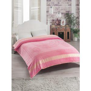 Простыня Rose Kafa велюр жаккард 200х220 розовый (7970розовый)