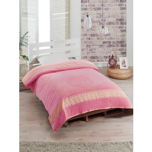 Простыня Rose Kafa велюр жаккард 160х220 розовый (7984розовый)