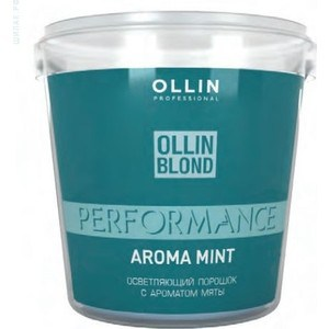 OLLIN PROFESSIONAL BLOND PERFORMANCE Aroma Mint Осветляющий порошок с ароматом мяты 500гр
