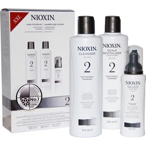 NIOXIN Набор XXL (Система 2) 300мл+300мл+100мл Шампунь, кондиционер и маска graceful long straight lace front mixed color women s heat resistant fiber wig