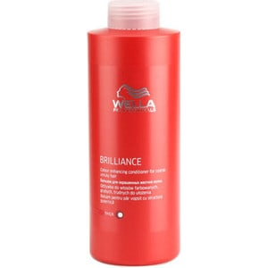 WELLA PROFESSIONALS Brilliance Line Бальзам для окрашенных жестких волос 1000мл. wella бальзам brilliance line для окрашенных нормальных и тонких волос 1000 мл