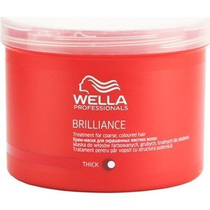 WELLA PROFESSIONALS Brilliance Line Маска для окрашенных жестких волос 500мл. wella крем маска для окрашенных жестких волос wella brilliance treatment for coarse colored hair 81266983 500 мл