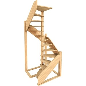 Лестница деревянная ЛЕСЕНКА ЛЕС-1,2 винтовая универсальная шарико винтовая пара mux ballscrew 1605 l 750 sfu1605 ballnut cnc 2