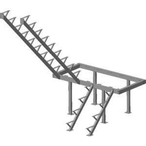 Металлокаркас ЛЕСЕНКА ЛЕС-06 H-2760 мм.