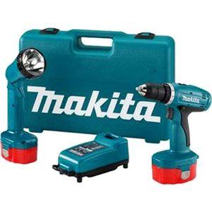 Аккумуляторная ударная дрель-шуруповерт Makita 8280DWPLE  аккумуляторная дрель шуруповерт makita 6271 dwple