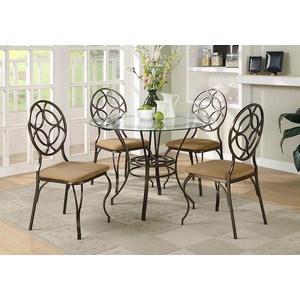 Обеденная группа стол плюс 4 стула Мебельторг 2834/2734