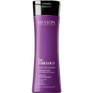 Revlon Professional Be Fabulous Hair Recovery Keratin Shampoo Восстановление волос очищающий шампунь с кератином 250 мл