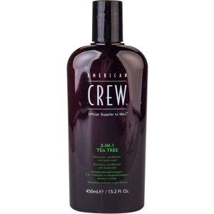 AMERICAN CREW Средство для волос 3 в 1 чайное дерево 450мл. american crew tea tree 3 in 1 средство 3 в 1 шампунь кондиционер и гель для душа чайное дерево 100 мл