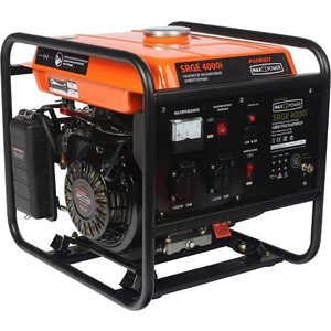 Генератор бензиновый инверторный PATRIOT MaxPower SRGE 4000i (474101620) генератор бензиновый patriot power srge 7500e
