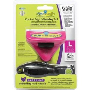 Фурминатор FURminator FURflex deShedding Tool L Comfort Edge Large Cat All Hair против линьки для крупных кошек с любой длиной шерсти