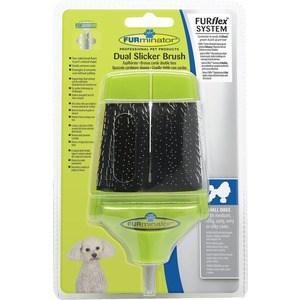 Пуходерка-насадка FURminator FURflex Dual Slicker Brush Small Dogs двухсторонняя для собак мелких пород с любой длиной шерсти furminator для собак мелких короткошерстных пород short hair small dog 4см