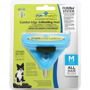 Насадка FURminator FURflex deShedding Head M Comfort Edge Medium Dog All Hair против линьки для собак средних пород с любой длиной шерсти furminator brush comb pet deshedding tool for medium dog cat
