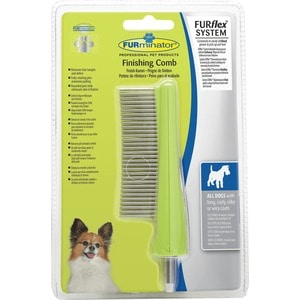 Расческа-насадка FURminator FURflex Finishing Comb All Dogs для собак с любой длиной шерсти насадка furminator furflex fur accumulator all hair для сбора шерсти любой длины