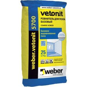 Стяжка для пола WEBER.VETONIT 5700 25кг. стяжка пола стройбриг цемерин fc40 для толстослойного выравнивания 25 кг