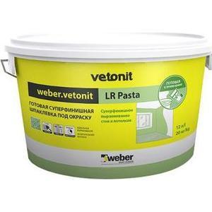 Шпатлевка WEBER.VETONIT готовая LR Pasta суперфинишная 20кг.