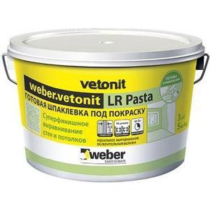 Шпатлевка WEBER.VETONIT готовая LR Pasta суперфинишная 5кг.