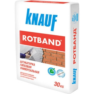 Штукатурка KNAUF РОТБАНД гипсовая белая 30кг. мел мтд 2 30кг