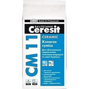 Фотография товара клей для плитки Ceresit CM11 для внутр.и наруж. работ 5кг. (704851)