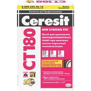 Фотография товара клей для теплоизоляции Ceresit СТ180 для минераловатных плит 25кг. (704861)