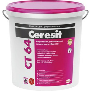 Штукатурка Ceresit КОРОЕД CT64 декорат. акриловая фр.2 мм. 25кг.