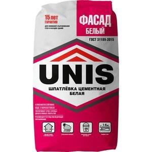 Фотография товара шпатлевка UNIS ФАСАД цементная белая 25кг. (704886)