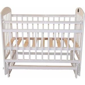 Кроватка Briciola Briciola-14 маятник поперечный, без ящика, белая (BR1401) кроватка briciola briciola 5 маятник поперечный ящик автоматическая слоновая кость br0511