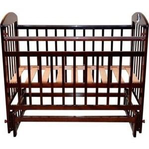 Кроватка Briciola Briciola-14 маятник поперечный, без ящика, темная (BR1407)