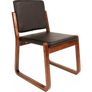 Офисное кресло Русские кресла РК 7 Терра черный, каркас темный орех