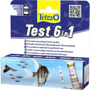 Тест Tetra TetraTest 6 в 1 GH/KH/NO2/NO3/pH/Cl полоски для пресной воды 25 шт. тест sera ph тест для воды 15 мл