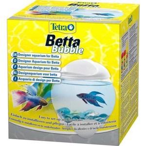 Аквариум Tetra Betta Bubble Designer Aquarium for Betta с освещением для петушков 1,8л (белый)