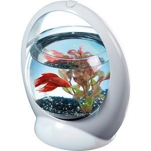 Аквариум Tetra Betta Ring Designer Aquarium for Betta с LED освещением для петушков 1,8л (белый)