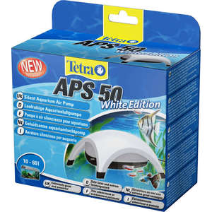 Компрессор Tetra APS 50 Silent Aquarium Air Pomp White Edition для аквариумов 10-60л (белый)